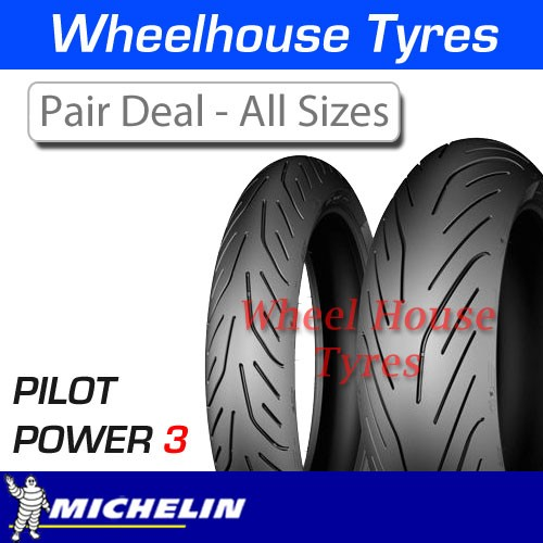 michelin pilot power 3 pair deal all sizes. Black Bedroom Furniture Sets. Home Design Ideas