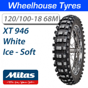 120/100-18 68M Ice Soft XT-946 Mitas White