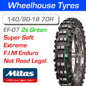 140/80-18 70R 2 Green Super Soft Mitas EF-07 N.H.S.