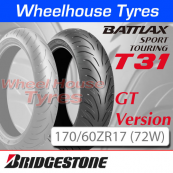 170/60ZR17 (72W) T31 GT Bridgestone T/L Rear