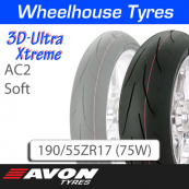 190/55ZR17 (75W) AC2 Soft 3D Ultra Xtreme Avon TL Rear