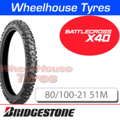 80/100-21 X40 Bridgestone Battlecross Med/Hard