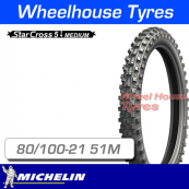 80/100-21 51M Michelin Starcross 5 Medium
