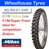 90/90-21 54R Yellow Super Mitas C-19 F.I.M