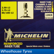Michelin MX Tube 12MCR - 2.50-12, 80/100-12