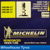 "Michelin MX Tube 17"" 130/90, 140/80-17"