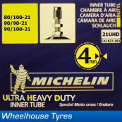 Michelin Ultra Heavy Duty MX Tube 21UHD 80/100-21 - 90/90-21 - 90/100-21
