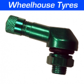 8.3mm Alloy Angled Valve Green