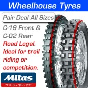 Mitas C-19 Front & C-02 Rear (Ideal for Green Lane, Trail Riding & Competition use)