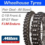 Mitas C-19 Front & EF-07 Rear F.I.M Enduro Pair Deal - All Sizes & Compounds