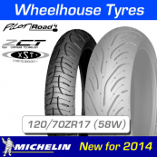 120/70ZR17 (58W) Pilot Road 4 Michelin T/L