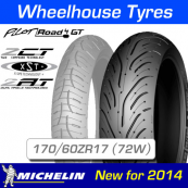 170/60ZR17 (72W) Pilot Road 4 GT Michelin T/L