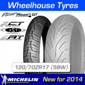 120/70ZR17 (58W) Pilot Road 4 GT Michelin T/L