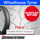 110/90-18 61V Bridgestone BT45 Tubeless Front