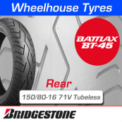 150/80-16 71V Bridgestone BT45 Tubeless Rear
