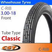 3.00-18 Cheng Shin Classic Ribbed Front TT