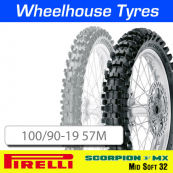 100/90-19 57M MX32 Mid Soft Pirelli Scorpion NHS Rear