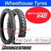 Bridgestone Battlecross X40 Pair Deal - All Sizes