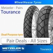 Metzeler Tourance Tyres Pair Deal - All Sizes (Dual Purpose Adventure Tyre)