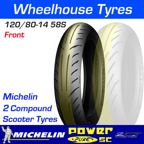 Michelin Power Pure SC Front 120//80-14 Scooter Tire