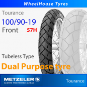 100/90-19 (57H) Metzeler Tourance Tubeless - Front Tyre (Crossply)