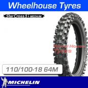 110/100-18 64M Michelin Starcross 5 Medium