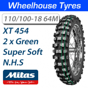 110/100-18 64M XT-454 2 Green Super Soft Mitas