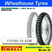 110/90-19 62M MX Soft Sand  Pirelli Scorpion NHS