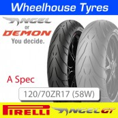 120/70ZR17 (58W) (A) Spec Pirelli Angel GT TL