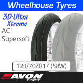 120/70ZR17 (58W) AC1 Supersoft 3D Ultra Xtreme Avon