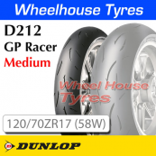 120/70ZR17 (58W) D212-M GP Racer Medium TL Front Dunlop