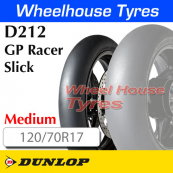 120/70R17 D212-M Slick GP Racer TL Front Medium Dunlop