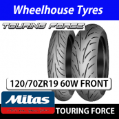120/70ZR19 (60W) Touring Force Mitas TL Front