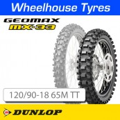 120/90-18 65M MX33 Dunlop Geomax Soft-Med T/T NHS