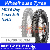 140/80-18 70M Super Soft MCE 6 Day Extreme Metzeler