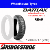 170/60R17 72H AX41S T/L Rear Bridgestone Adventurecross Scrambler