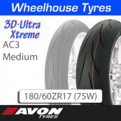 180/60ZR17 (75W) AC3 Medium 3D Ultra Xtreme Avon TL Rear