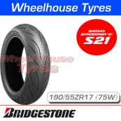 190/55ZR17 (75W) Bridgestone S21 T/L Rear