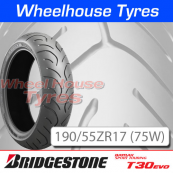 190/55ZR17 (75W) T30 EVO Bridgestone T/L Rear