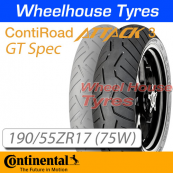 190/55ZR17 (75W) RoadAttack 3 GT TL Rear Continental