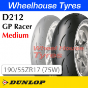 190/55ZR17 (75W) D212-M GP Racer Medium TL Rear Dunlop