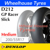 200/55R17 D212-M Slick GP Racer TL Rear Medium Dunlop