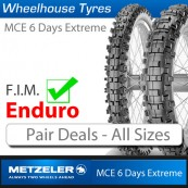 Metzeler MCE 6 Days Extreme Enduro Tyres - Pair Deal