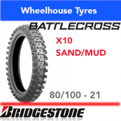 80/100-21 X10 Bridgestone Battlecross Sand/Mud