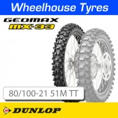 80/100-21 51M MX33 Dunlop Geomax Soft-Med T/T NHS