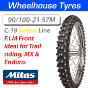 90/100-21 57M Yellow Super C-19  Mitas F.I.M