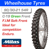 90/90-21 54R Green Super Light Mitas C-19 F.I.M