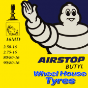 Michelin Tube 2.50-16, 2.75-16, 80/80-16, 90/80-16