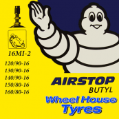Michelin Tube (Offset Straight Metal Valve) 120/90, 130/90, 140/90, 150/80, 160/80-16