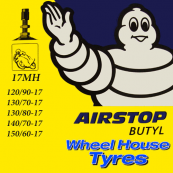 Michelin Tube 120/90, 130/70, 130/80, 130/90, 140/70, 150/60-17